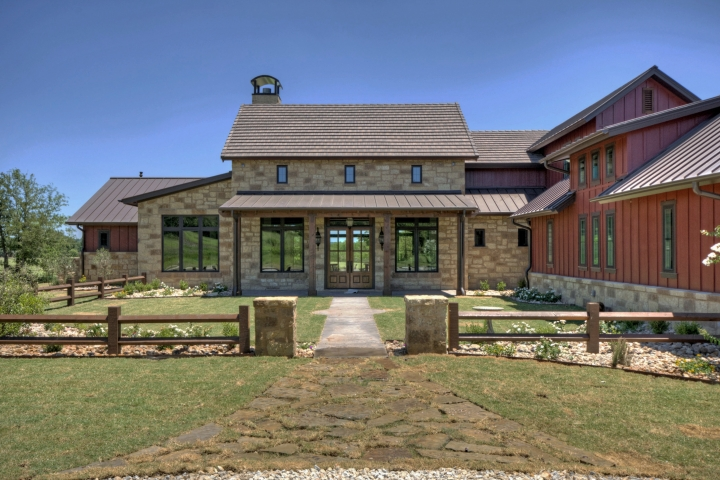 German texas farmhouse ii portfolio olson defendorf for Texas custom home plans
